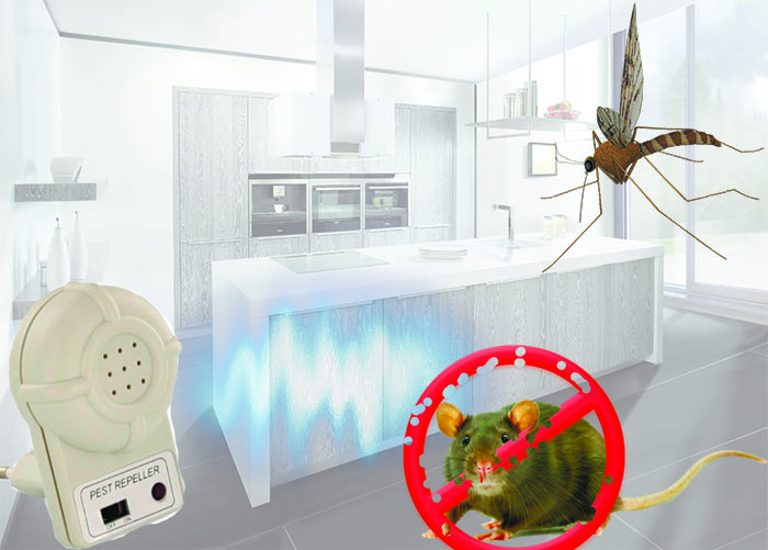 Ультразвуковой отпугиватель грызунов и насекомых DX-610