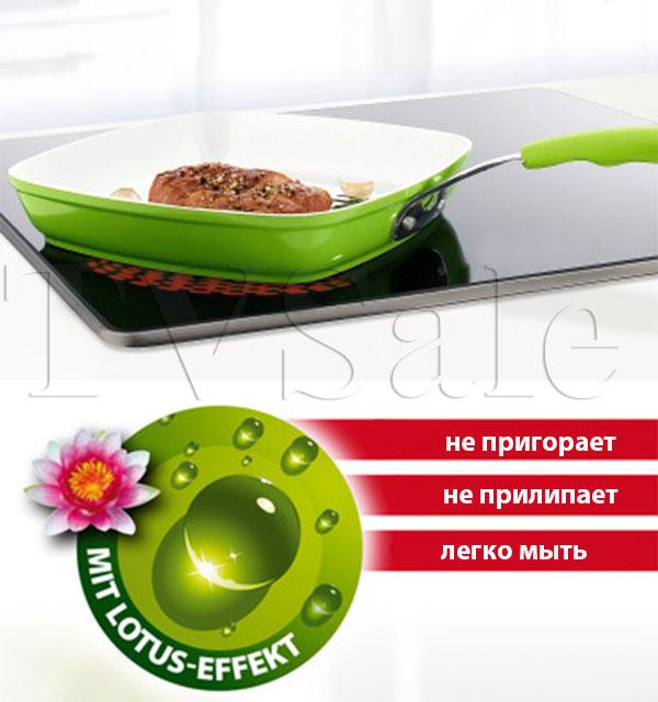 Сковорода гриль с керамическим покрытием Биолюкс Гриль