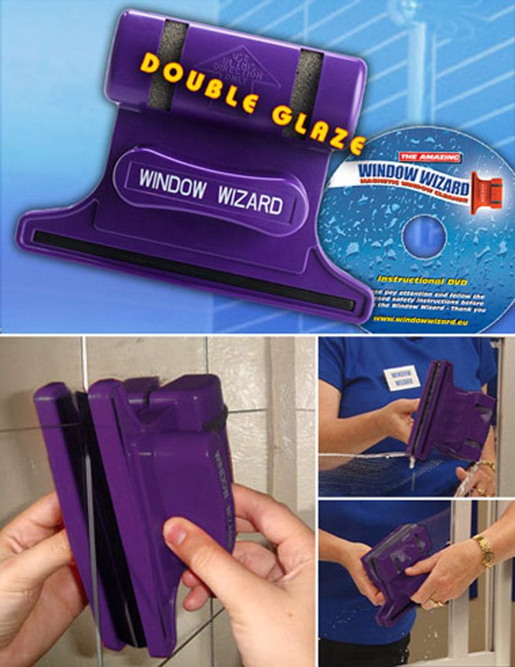 Магнитная щетка для мытья окон с двух сторон Window Wizard в Краснодаре