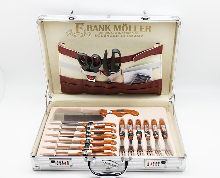 набор ножей в чемодане 25 предметов Frank Moller FM-308
