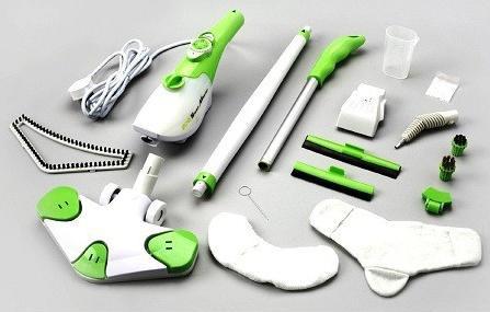 Комплектация швабры X6 отпариватель и пароочиститель
