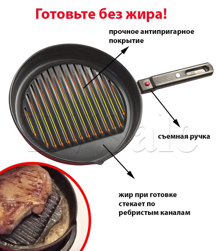 сковороду с антипригарным покрытием Скини Скилет