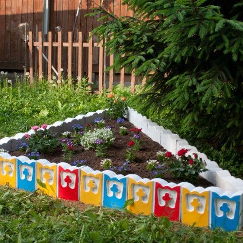 Купить форму для садового бордюра своими руками